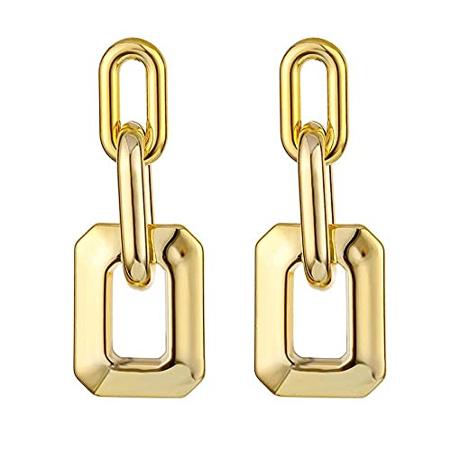 Pendientes para niñas, QWEA Pendientes para mujer Negro Acrílico lindo Columpio geométrico Pendientes colgantes de oro Pendientes Joyería de moda