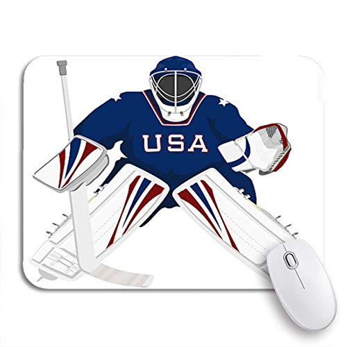 Gaming mouse pad eisteam usa hockey goalie jersey sportschläger winter rutschfeste gummiunterlage computer mousepad für notebooks mausmatten