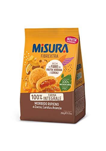 Misura Frollino Integrale Fibrextra | Con farcitura alla zucca, carota e arancia | 100% Farina Integrale | Confezione da 260 grammi
