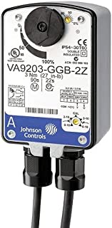 Johnson Controls VA9203-AGA-2Z On/Off and Floating Point Electric Spring Return Actuators are Direct-Mount Valve actuators That Operate on AC/DC 24 V Power. These bidirectional actuators are Used to