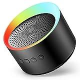 Axloie Bluetooth スピーカー ワイヤレススピーカー  高音質大音量 重低音 ポータブル 45mmラッパ TWS二台接続可能 12時間連続再生 内蔵マイク ハンズフリー通話 LEDライト 発光 スマホスピーカー IPX6生活防水 Auxポート&TFカードスロット対応 アウトドア お風呂 iPhone & Android対応 日本語説明書付き メーカー1年保証付き
