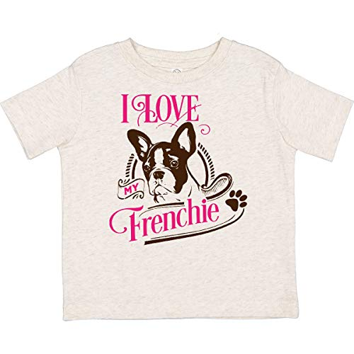 inktastic I Love My Frenchie Toddler T-Shirt 2T Natural Heather 3d745