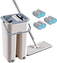 Mop 360° Rotation Automatic Spin Flat Squeeze Mop Bucket Self Wet and Dry Cleaning Mop Home Floor Fellow Mop Household Cle...