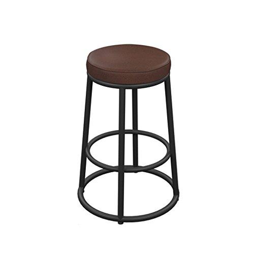 ZCX Taburete de Bar de Hierro Creativo Retro Antiguo Taburete de Bar Bar Chair Lounge Chair Soft Amortiguador de Alto Taburete Sillas de Comedor de jardín (Color : Cushion, Size : 75cm)