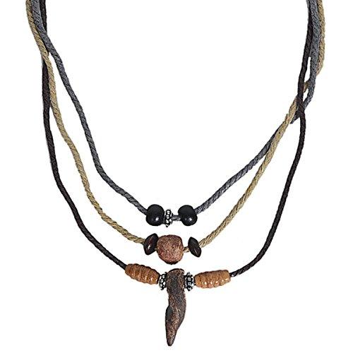 Material: cáñamo, piedra. Longitud del collar ajustable de 23 a 38 cm. Collar con colgante para hombre o mujer. Suministro hecho a mano. Boho, bohemio, hippie, gimnasio, tribal.