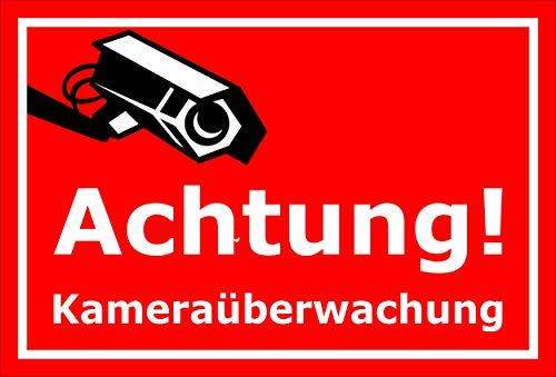 Melis Folienwerkstatt sticker schild - camera-bewaking - S00348-124-D 60x40cm – Hartschaumplatte – ohne Bohrlöcher