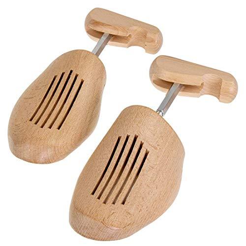 Langlauf Schuhbedarf Schuhspanner aus Holz - Hochwertige Unisex Schraubspanner verstellbar durch Gewindemechanik 38/39 EU