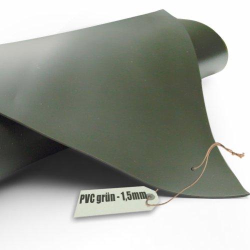 Teichfolie PVC 1,5mm oliv grün in 14m x 10m