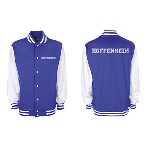 Shirt-Panda College Jacke Hoffenheim Baseball Jacke Damen Herren XS-3XL Royal Blue/White L