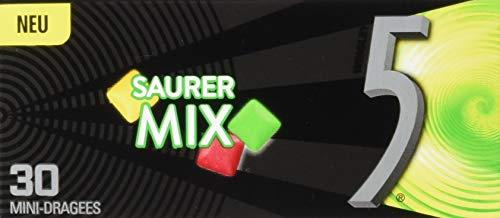 5GUM Kaugummi | Saurer Mix | Zuckerfrei | 12 Packungen (12 x 30 Dragees)