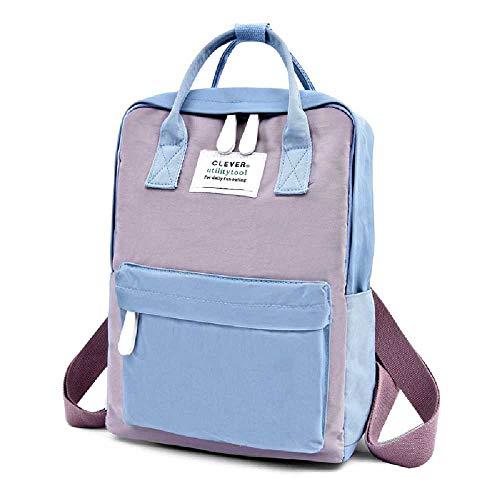 ZHANGZHE Women'S Leisure Travel Ladies Backpacks, High School Students, School Bags, Travel Bags blue