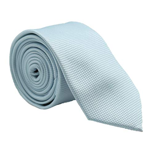 Captain Krawatte schmal Eis-blau uni-farben | 6cm breit handgefertigt in Geschenk-Box | Krawatte elegant geeignet für Designer Hemd Anzug Business | Geschenk für Herren