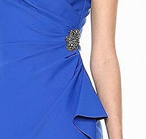 Royal blue short bridesmaid dress _image4