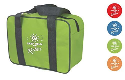 Palucart - Bolsa térmica de 7 litros, para el Almuerzo o la Oficina, diseño con Texto Keep Calm and Relax