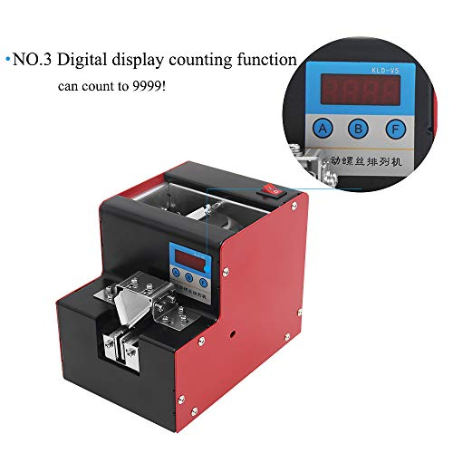 CGOLDENWALL Automatic Screw Feeder Machine Screw Feeder Supplier Screwdriver Feeder Microcomputer Control Digital Display Count Applicable Screw Size from M1.0 to M5.0 for Different Types Screws