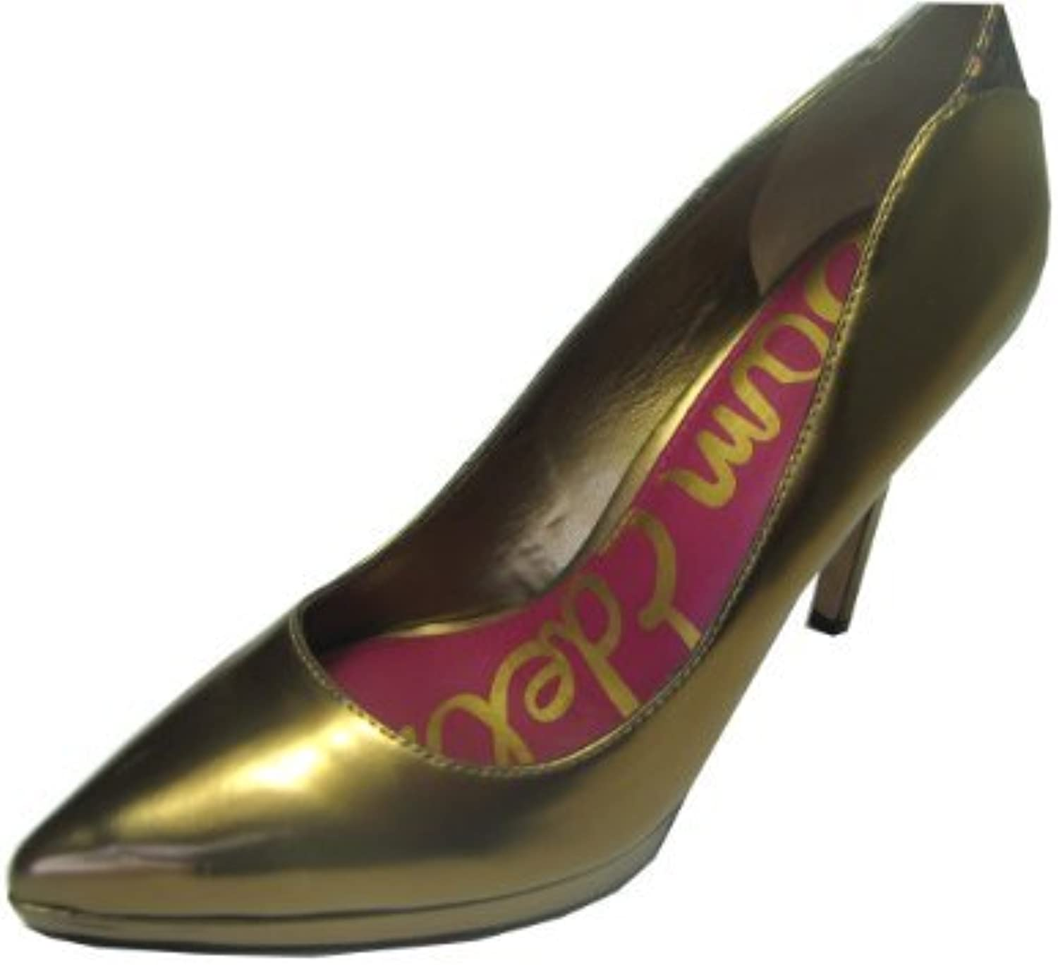 Sam Edelman Pump Heels Metallic Bronz Leather Size 7.5m 8m, 8.5m Closeout