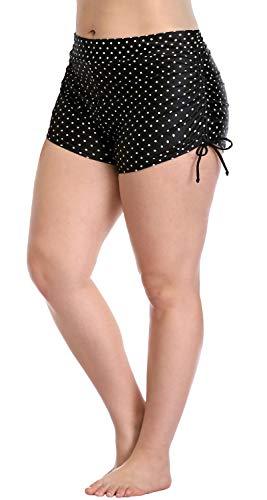 Sociala Womens Plus Size Swimwear Bottoms Plus Size Retro Swim Shorts 3X