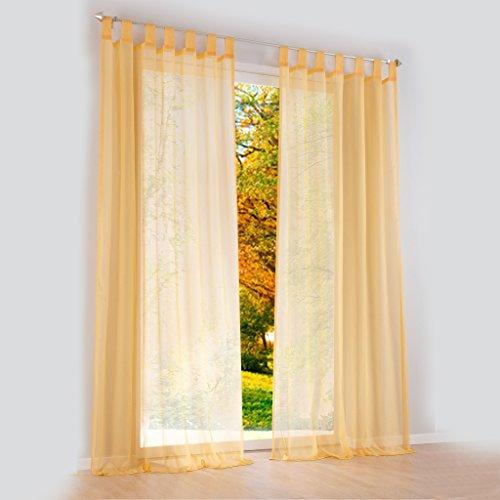 Hecho a mano hermoso de trabillas de ambientes cortinas de 10 coloures 4 tamaño de cortina, tela, amarillo, H*B 145*140cm