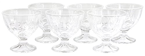 Wamat 6-Set Eisbecher Dessertschalen Eisschalen Eisschale Eisgläser EIS Glas 240 ml