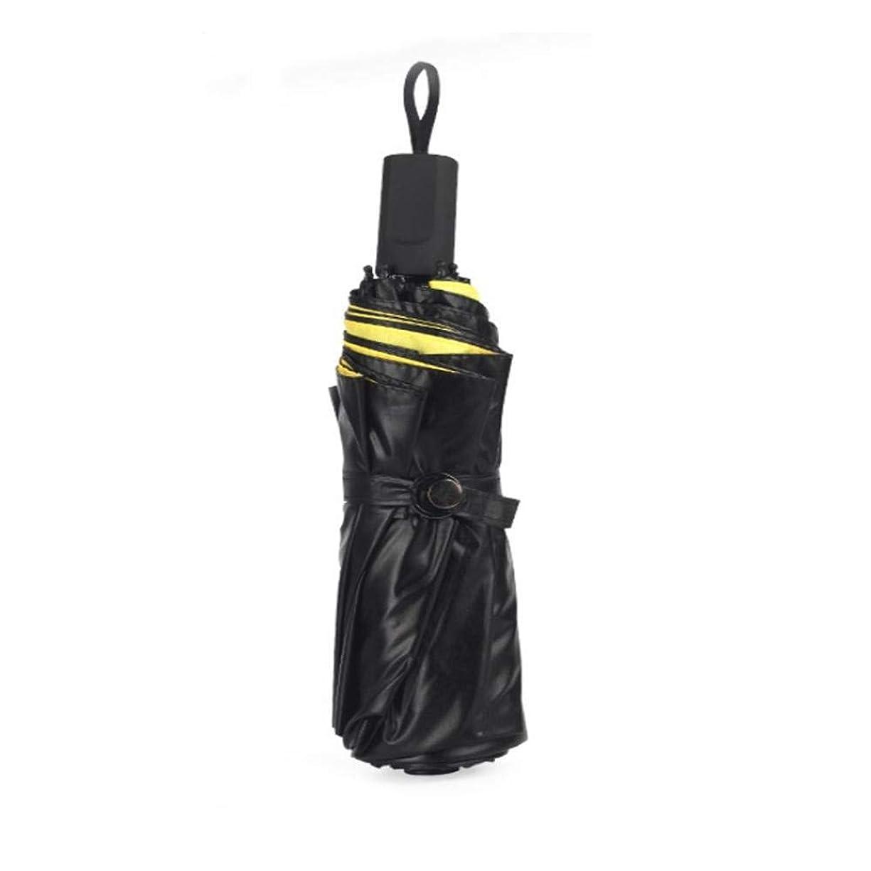 心理的浮くペナルティChuangshengnet クリア傘の創造性プラスチック傘 (Color : ブラック)