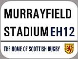 HONGXIN Murrayfield Street Outside Inside Scottish Rugby Cartel de metal vintage para decoración de hogar, bar, pub, garaje, banda, cerveza, huevos, café, supermercado, granja, jardín, dormitorio