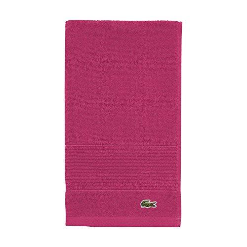 "Lacoste Legend Towel, 100% Supima Cotton Loops, 650 GSM, 16""x30"" Hand, Magenta"