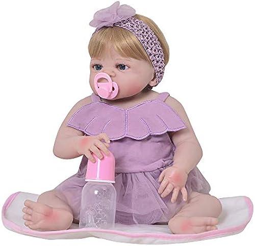 MCCW Reborn Baby Doll, das Looks Real Happy Teddy, 23 Zoll Girl in GentleTouch Vinyl, Safety getestet für Kids 3 +, 4-Piece Set