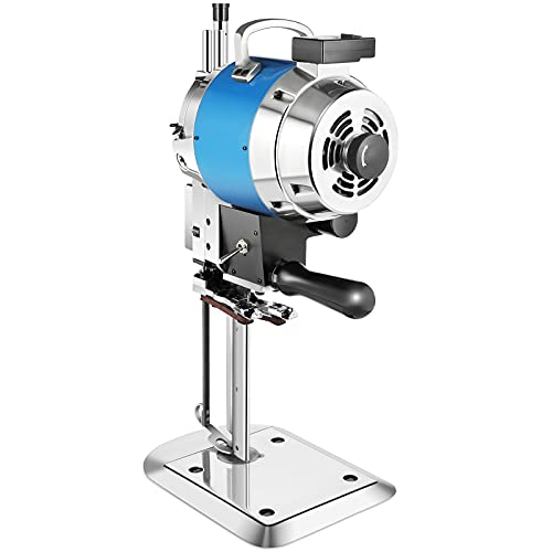 Industrial Fabric Cutting Machine,High Speed 8 Inch Straight Blade Knife Fabric Cutter Machine,750W Cloth Cutter Cloth Cutting Machine with Automatic Knife Sharpen for Multi Layer Leather Wool