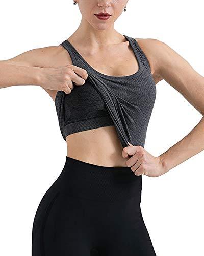 CALHOUN Camiseta de tirantes para mujer, para yoga, correr, gimnasio, sexy, chaleco...