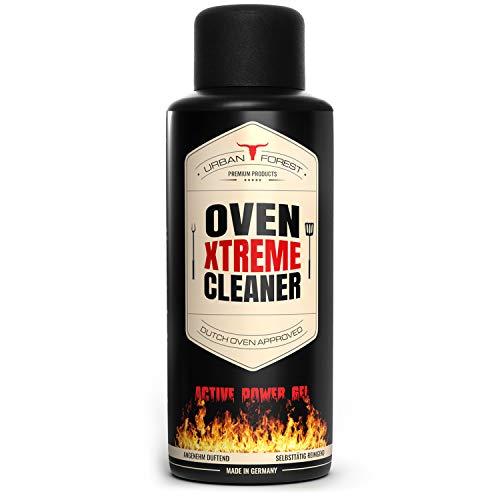 Dutch Oven Reiniger & Grillreiniger Gel | Ofenreiniger & BBQ Cleaner | Rauchharzentferner als Kraftreiniger | Gusseisen Reiniger für Gusseisen Kochtopf von URBAN FOREST 500ml (OVEN XTREME CLEANER)