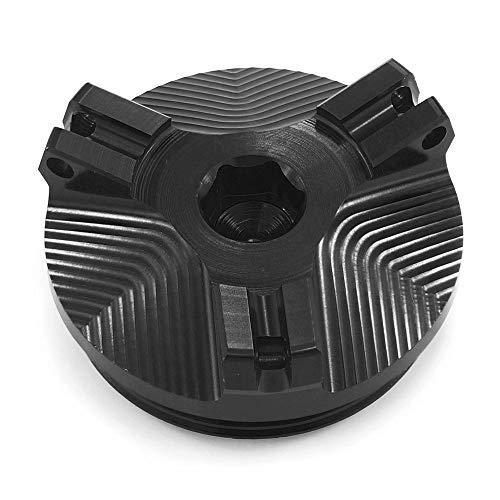 Heinmo Tapón de llenado de Combustible de Aceite de Motor de Motocicleta tapón de Tapa de Tanque de Gas para R1200GS R 1200GS LC Adventure R1200 R nineT 2014-2019 (Black)