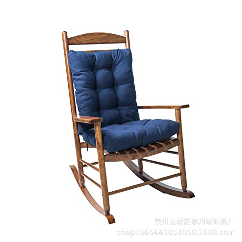 yadamse Rocking Chair Cushion Set,2 Piece Non-Slip Seat/Back Chair Cushion Indoor/Outdoor Soft Thickened Patio Chaise Lounger Cushion Overstuffed Patio Chair Cushion (Navy)