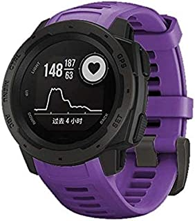 Consumer Electronics Silicone Wrist Strap for Garmin Instinct 22mm (Army Green) (Color : Purple)