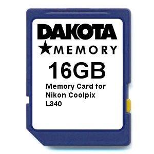 16GB Memory Card for Nikon Coolpix L340
