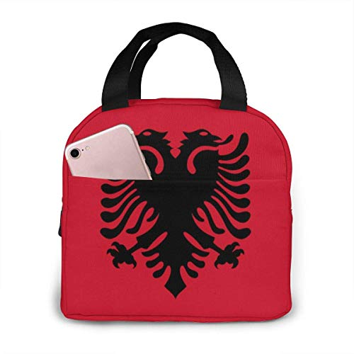 Lunchbox, Albania Flag Tragbarer isolierter Lunchbag Trainings-Lunchcontainer 20x21x13cm