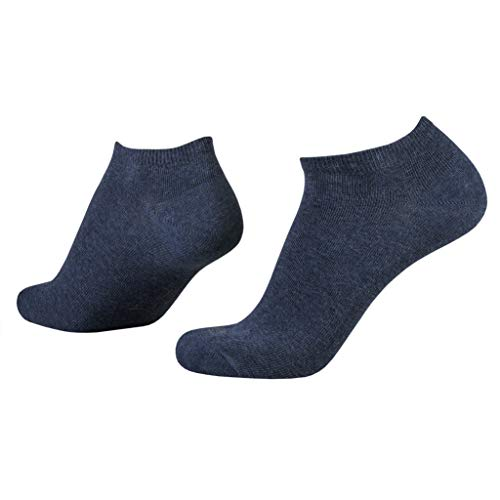 camel active Sneaker Socks 3er Pack 6595 indigo denim Strumpf hellbraun Füssling jeansblau meliert, Size:43-46