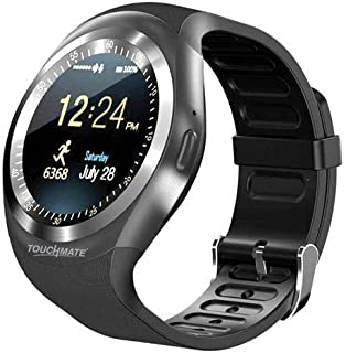 Smart Watch Plastic Band For Android & iOS,Black - tm-sw400