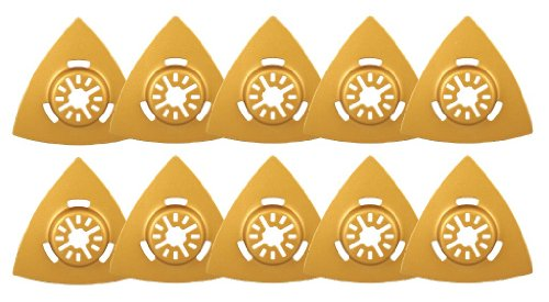 Best Prices! 3 1/8 Triangular Carbide Rasp 10 Pack - Universal Arbor for Fein Multimaster, Dremel, B...