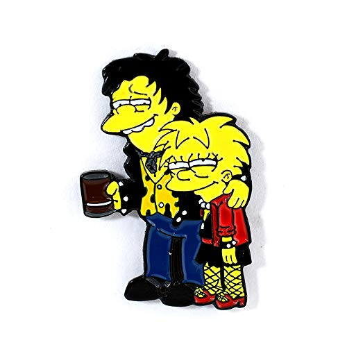 Sid and Nancy/Lisa and Nelson Simpsons Sex Pistols Tribute Pin