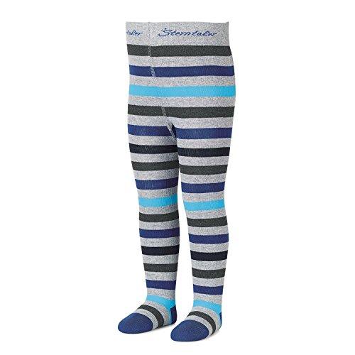 Sterntaler - jongens panty met strepen, blauw-grijs - 8701700bg