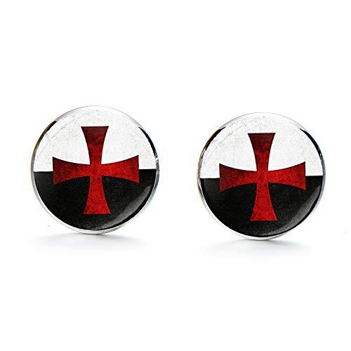 Gemelos masónicos con sello templario de los caballeros de los templarios de...
