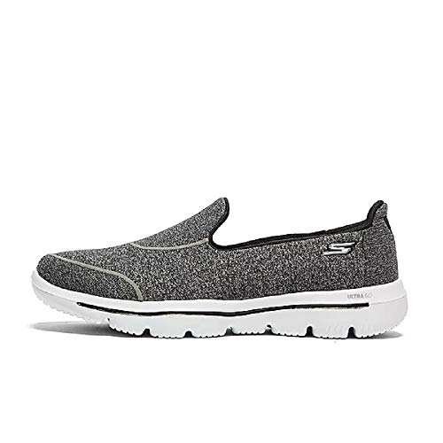 Skechers Damen Go Walk Evolution Ultra-dedic Slip On Sneaker, Schwarz (Black White BKW), 39 EU