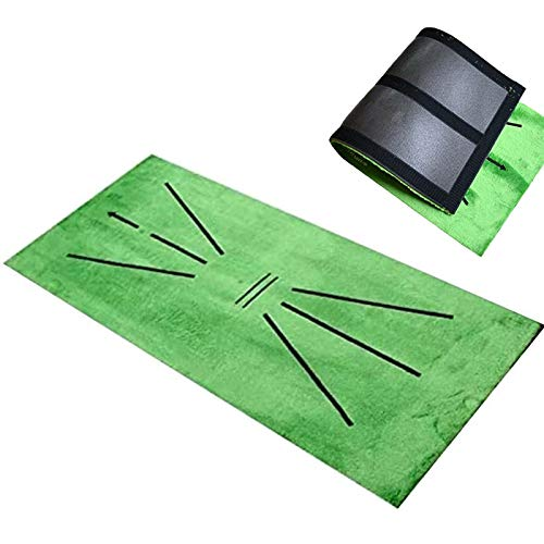 ACEMIC Golf Training Mat for Swing Detection Batting Mini Golf Practice Hitting Mat Golf Practice Training Aid Game and Gift for Home Office Outdoor Indoor Use