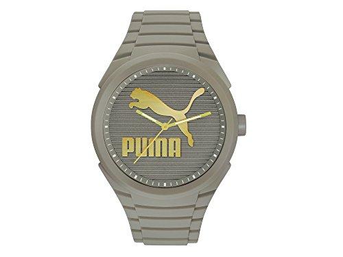 Puma PU103592019 Gummy CAT Reloj Análogo con Caja de Policarbonato para Mujer, color Gris