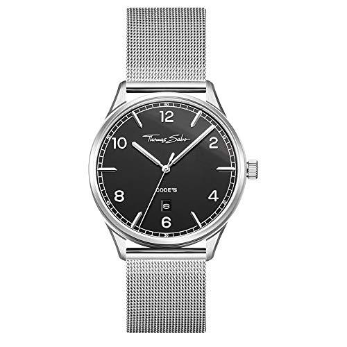 Thomas Sabo Unisex-Uhr Edelstahl CODE TS silber schwarz WA0339-201-203-40 mm