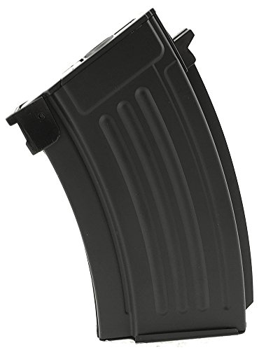 SportPro 220 Round Metal Stubby High Capacity Magazine for AEG AK47 AK74 Airsoft - Black