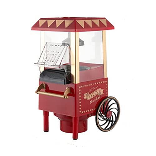 110/220 V Casa Retro Macchina per Popcorn Stile Carro Produzione di Aria Calda Snack Home Theater (17 * 24 * 39 Cm) 0.27L