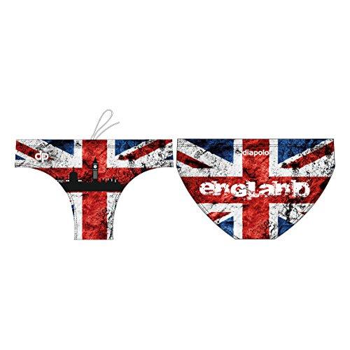 Diapolo England Professioneller Schwimmhose Badehose Boxerhose Shorts Boxershorts Schwimmshorts Badeshorts für Herren Männer S M L XL XXL (XL)