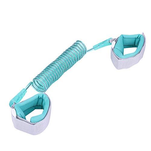 Anti Lost Wrist Link - Elastisches Kindersicherheits-Armband Kids Anti Lost Wrist Leash Laufendes Armband für Kleinkinder, Babys, Kinder (Color : Blue)
