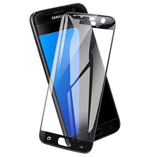 ICHECKEY Panzerglas Schutzfolie für Samsung Galaxy S7[2 Stück], 9H Härte HD Klar Gehärtetem Glas Anti-Kratzen Anti-Fingerabdruck Ultra Dünn Blasenfrei Displayschutzfolie für Samsung Galaxy S7